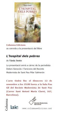 L'hospital dels pobres - Presentació Barcelona